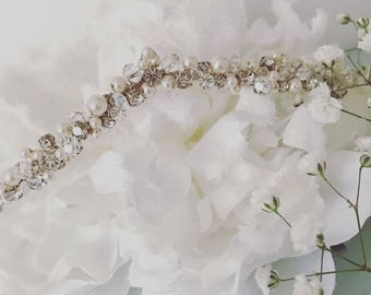 Jasmin Crystal and Pearl headress