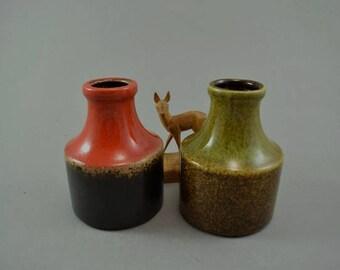 Vintage set of 2 vases / Scheurich / 550 10 | West Germany | WGP | 60s