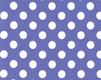 Grow Medium White Dots on Petal Purple Background by Me and My Sister for MODA 22274-11