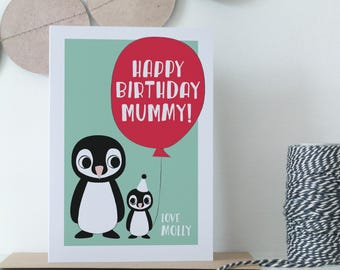 Mummy Birthday Card - Daddy Birthday Card - Personalised Parent's Birthday Card