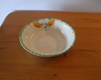 "Vintage Ivory England ""Poppy"" decorated fruit/serving bowl"