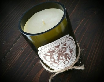 Two Angels wine candle