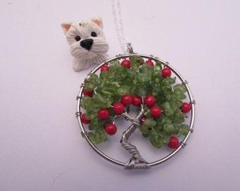 Tree of life pendant, Apple Tree, fashion necklace, handmade,