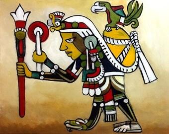 Acxomocuil- The Merchant God Original Painting