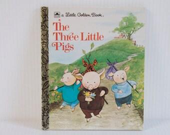 Vintage Little Golden Book Three Little Bigs