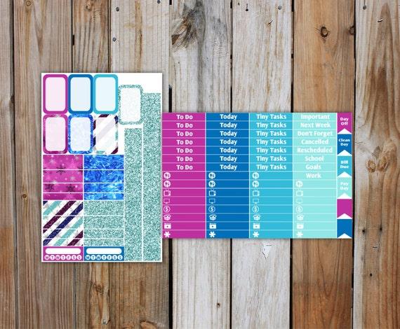 Frozen Planner Sticker MINI Kit   Planner Stickers Kit for use with ERIN CONDREN Life Planner