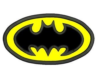 Batman Machine Embroidery Applique Design, Batman Logo, Super Hero Applique, Boys, Batman Embroidery, 4 Sizes, Instant Download,No: SA558-1