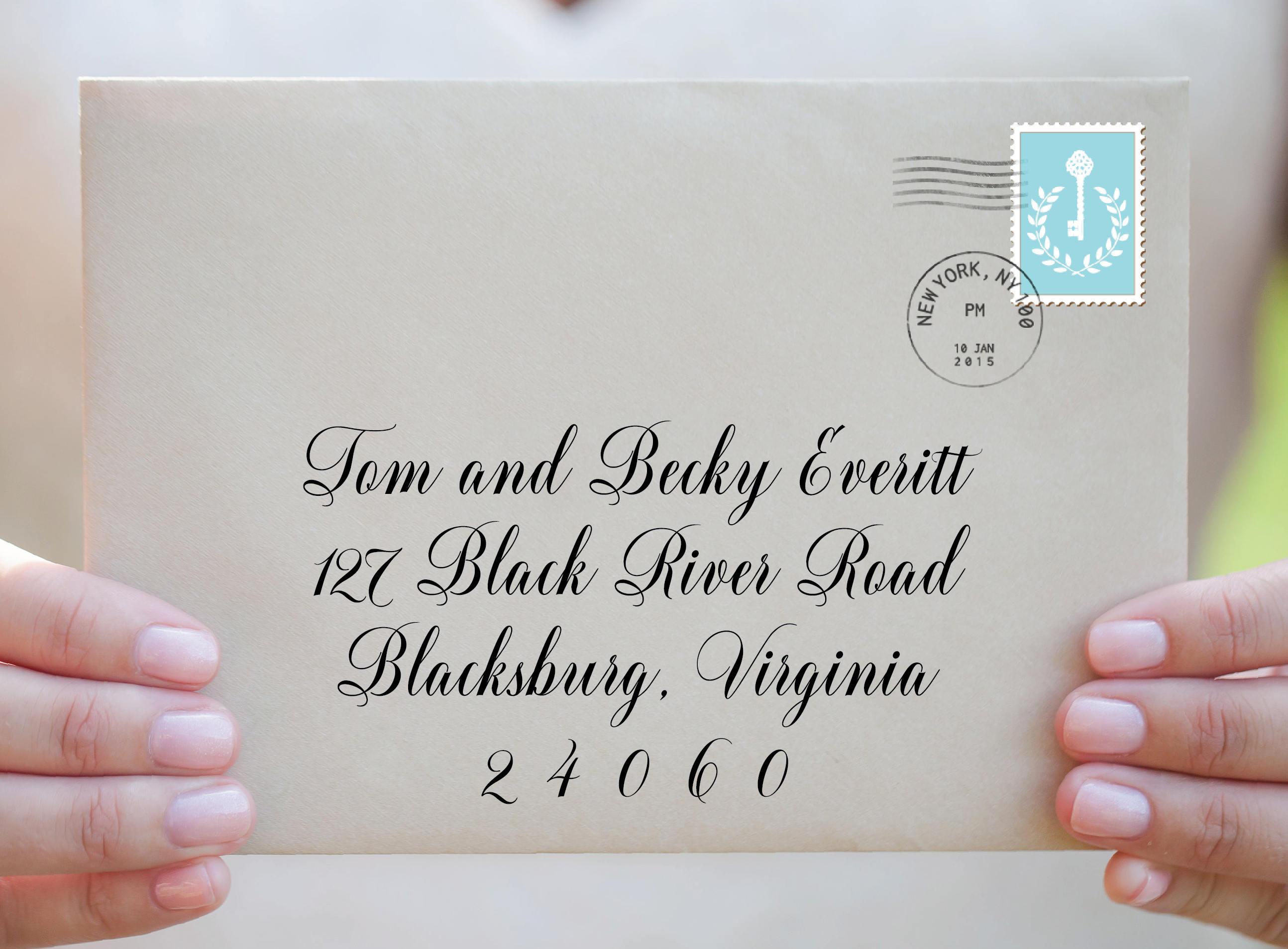 Envelope TemplatePrintableWedding EnvelopeWedding Template – Calligraphy Paper Template