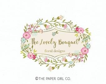 florist logo floral logo baby logo design children's boutique logo photography logo event planner logo premade logo wedding planner logo