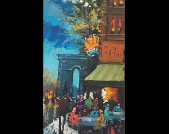 Mid Century Modern Impressionist Painting Signed Henri Renard! Mid-Century Modern Art, Mid Century Art, Mid Century Painting, Paris