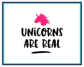 Unicorns Are Real Decal - Unicorn Car Decal - Unicorn Yeti Decal - Unicorn Laptop Decal - Unicorn Sticker - Car Decal - Window Decal -