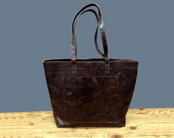 Sale!!!  Monogramed leather bag Handmade tote bag Large leather market bag, Leather shopper bag, Leather tote bag, Custom leather purse,