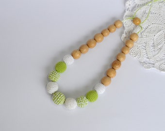 Nursing Necklace delicate , Teether for babies with juniper beads,Teether, jewelry for mom, toy for a newborn,organic necklace for feeding