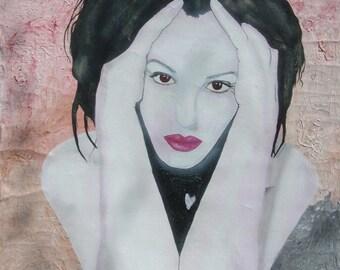 Portrait painting acrylics on canvas measuring 85 x 95