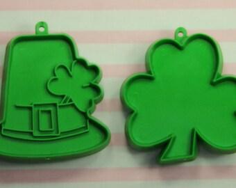 Vintage 2 Pc. St. Patrick's Day 1977 Hallmark Cookie Cutter Set