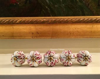 Set Of 5 Vintage Normandy Drawer Pulls - Free Shipping