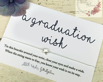 Friendship bracelet, graduation gift, happy graduation, graduation card, Wish bracelet, gift for her, school leaver