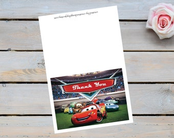 Disney Cars thank you card, disney Cars, thank you cards,Disney,cars