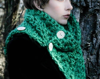 Buttoned Down Cowl - Your choice of color