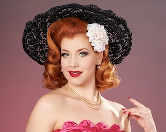 Pale Pink Double Zinnia Pin Up Hair Flower