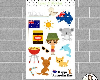 Australia Theme Planner Stickers