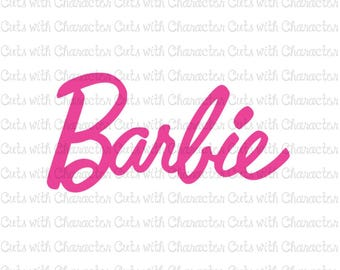 Barbie logo SVG DXF and PNG Files for Cutting Machines Silhouette, Cricut or Scan 'N' Cut