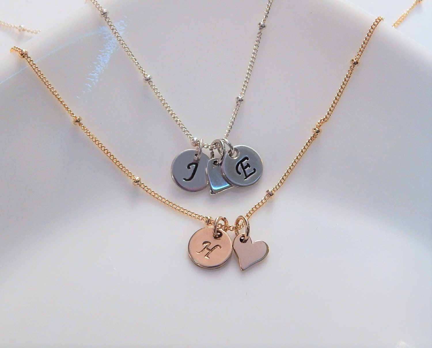 initial necklace letter charms multiple by simpleandlayered With multiple letter necklace