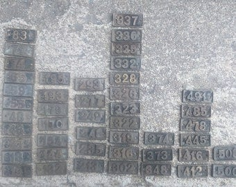 Numbers Industrial Numbers Vintage Industrial Numbers Brass Numbers