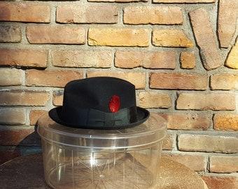 Vintage Clear Hat Storage Box