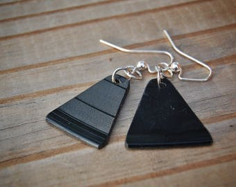 Vinyl record earrings - upcycled
