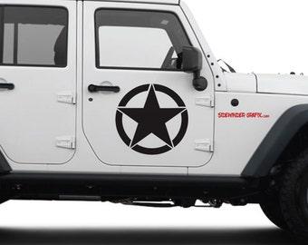 Jeep Wrangler Military Decal Oscar Mike  Army Star