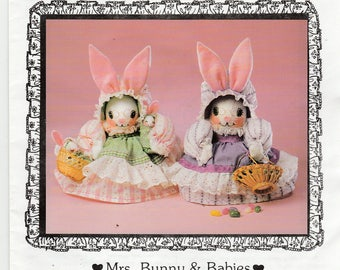 Vintage Mrs Bunny and Babies Sewing Pattern Luv n Stuff 1982