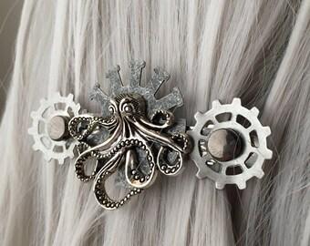Octopus Mermaid Costume Womens Hair Clip  - Octopus Hair Piece - Octopus Hair Accessories for Women - Octopus Hair Fascinator