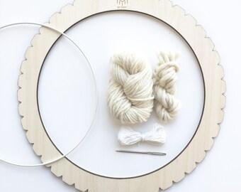 Circular S - dream catcher - loom - weaving Kit Totem by Poppy