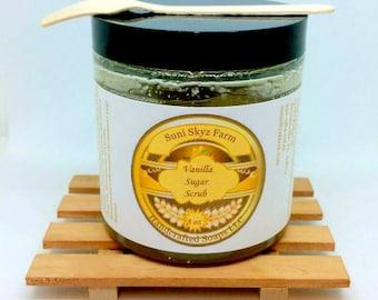Vanilla Sugar Scrub - Vanilla Body Scrub - Vanilla Body Polish - Vanilla Skincare - Natural Skincare - Spa Gift - All Natural Sugar Scrub