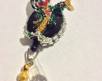 Leprechaun retractable badge holder