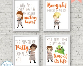 Ghostbusters Printables, 8x10 Ghostbusters Signs, Ghostbusters Digital Printable, Girl Ghostbusters