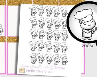 Meal planning planner stickers Meal plan stickers Emoti Stickers Doodle Stickers
