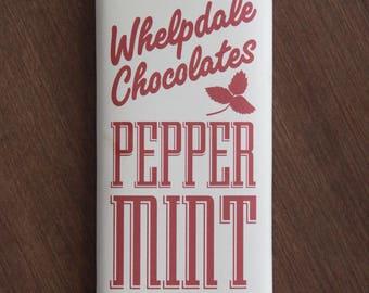 Vegan Peppermint White Chocolate Bar