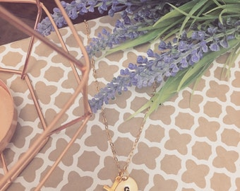Gold Plated Cross Necklace - Optional Extra Personalised Initial Disc