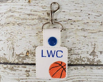 Basketball Keychain - Bag Tag - Zipper Pull - Bag Accessory - Small Gift