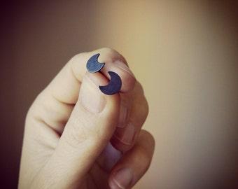 Earrings Moon of silver-Moon silver earrings