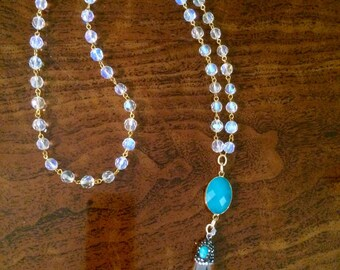 Blue Crystal ~ Pendant Necklace