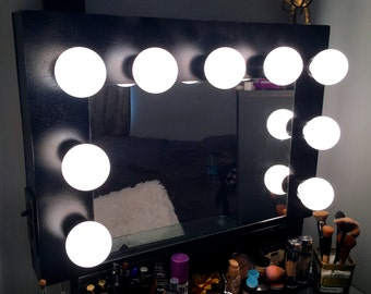 Hollywood Vanity Mirror  with lights makeup mirror black CHRISTMAS SALE