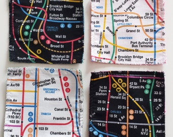 Cotton themed coasters Metro New York