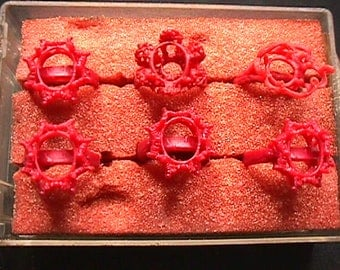 Six Ladies Ring Molds for Lost Wax Casting  # 3