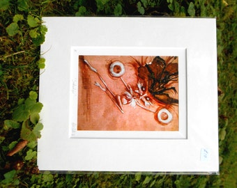 The Snotwidger - Small Mounted Fine Art Giclee Print
