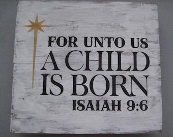 Small For Unto Us A Child Is Born