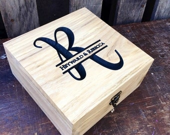 Keepsake box - Gift box - Memory box - Wedding keepsake - Gift for him - Best man gift - Wedding gift -  Gift for them - Gift for Her