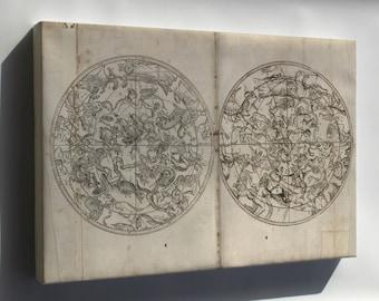 Canvas 24x36; Astrology Zodiac Constellation Map 1804 In Turkish